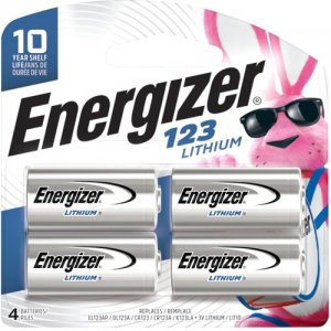 Energizer 123 Batteries, 4 Pack EL123BP-4