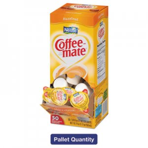 Coffee-mate Liquid Coffee Creamer, Hazelnut, 0.38 oz Mini Cups, 50/Box, 4 Boxes/Carton, 130 Cartons/Pallet, 26