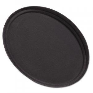 "Carlisle Griptite Oval Tray, 24""w, Fiberglass, Black CFS2500GR004 2500GR004"