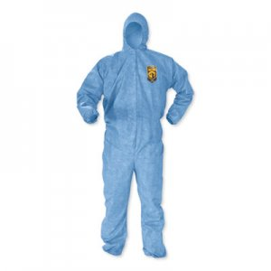 KleenGuard A60 Elastic-Cuff, Ankles & Back Hooded Coveralls, 3X Large, Blue, 20/Carton KCC45026 KCC 45026