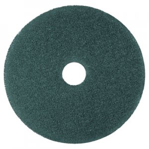 "3M Low-Speed High Productivity Floor Pads 5300, 18"" Diameter, Blue, 5/Carton MMM08411 MCO 08411"