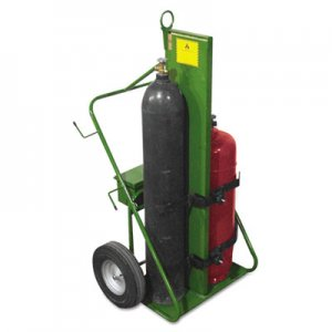 Saf-T-Cart 550 Series Cart, 1000-lb Load Maximum, 38w x 62h, Green SFA55216FW 552-16FW