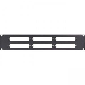 Black Box Connect Fiber Optic Panel - Blank, 1U, 6-Slot JPMT-FIBER-6