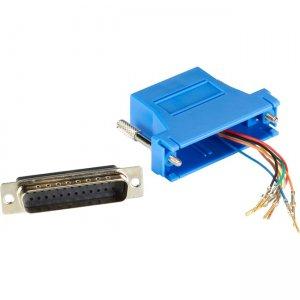 Black Box Modular Adapter Kit - DB25M to RJ45F with Thumbscrews Blue FA4525M-BL