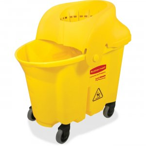 Rubbermaid Commercial WaveBrake 35Q Institution Bucket 759088YEL RCP759088YEL