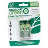 UltraLast Green Everyday Rechargeables General Purpose Battery ULGED2AA