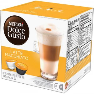 Nescafe Dolce Gusto Caramel Latte Coffee Capsules 02430 NES02430
