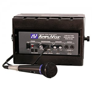 AmpliVox Mity Box Amplified Speaker With Wired Mic SS1230