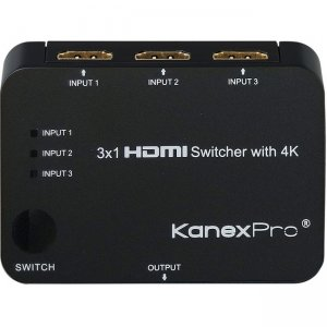 KanexPro 3x1 HDMI Switcher with 4K Support SW-HD3X14K