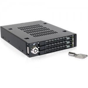 """Icy Dock Triple Bay 2.5"""" SAS/SATA HDD & SSD Mobile Rack For 3.5"""" Front Device Bay MB993SK-B"""