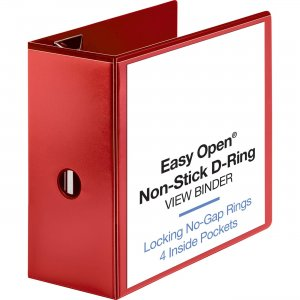 Business Source Red D-ring Binder 26984 BSN26984