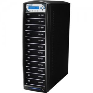 Vinpower Digital SharkBluCP BD CopyProtection Blu-ray/DVD/CD Tower Duplicator SHARKBLUCP-S12T-BK