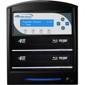 Vinpower Digital SharkBluCP Blu-ray/DVD/CD Tower Duplicator (Supports BD CopyProtection) SHARKBLUCP-S2T-BK