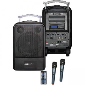 Hamilton Buhl High Quality PA System - DVD/CD/MP3 Bluetooth and Wireless Handheld Microphones VENU100A