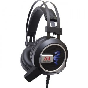 GamesterGear Falcon Over the Ear Stereo PC Gaming Headset with Microphone LED Lights SY-AUD63113
