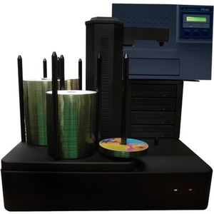 Vinpower Digital Cronus DVD/CD Publishers with Color Thermal Printer - 4 Drives CRONUS-S4T-THM-BK