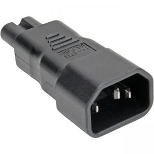 Tripp Lite IEC C14 to IEC C7 Power Cord Adapter - 10A, 250V, Black P016-000
