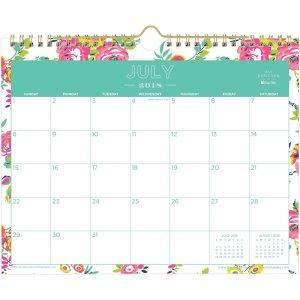 Blue Sky Peyton Floral Academic 11x9 Wall Calendar 107936 BLS107936