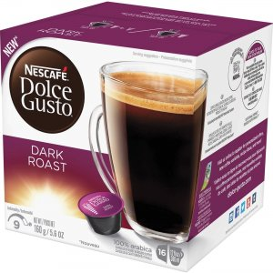 Nescafe Dolce Gusto Dark Roast Coffee Capsules 77317 NES77317