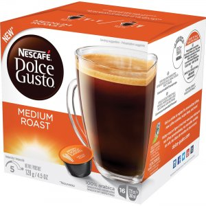 Nescafe Dolce Gusto Medium Roast Coffee Capsules 77319 NES77319