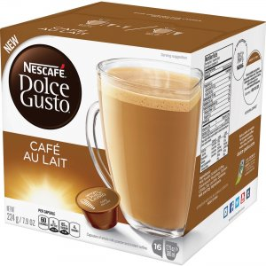Nescafe Dolce Gusto Cafe Au Lait Coffee Capsules 77321 NES77321