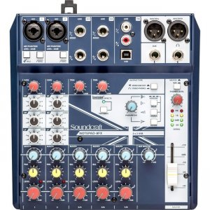 Soundcraft Small-format Analog Mixing Console with USB I/O and Lexicon Effects 5085984US Notepad-8FX