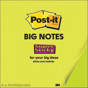 Post-it Super Sticky Big Notes BN11G MMMBN11G
