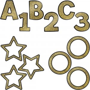 Carson-Dellosa Sparkle/Shine EZ Letter Colorful Cutout Set 145103 CDP145103