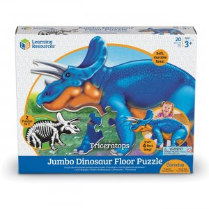 Learning Resources Jumbo Dinosaur Floor Puzzle - Triceratops LER2857 LRNLER2857
