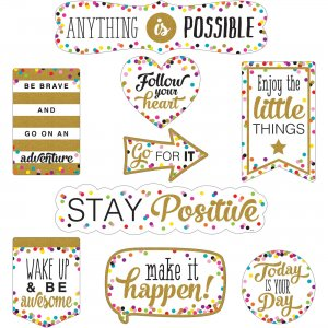 Teacher Created Resources Confetti Positive Accents 77326 TCR77326