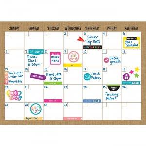 Teacher Created Resources Clingy Burlap Calendar Set 77350 TCR77350