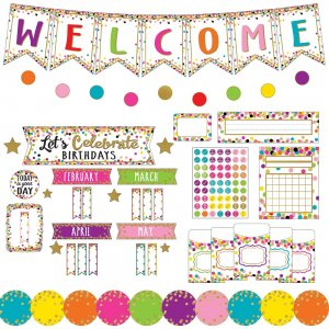 Teacher Created Resources Confetti Decor Bulletin Set 9460 TCR9460