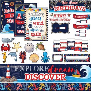 Teacher Created Resources Nautical Board Combo Set 9462 TCR9462
