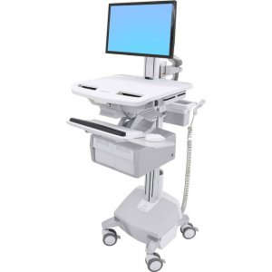 Ergotron StyleView Electric Lift Cart with LCD Pivot, LiFe Powered, 2 Tall Drawers (2x1) SV44-23C2-1