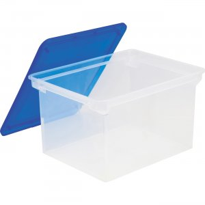 Storex Plastic File Tote Storage Box 61508U04C STX61508U04C