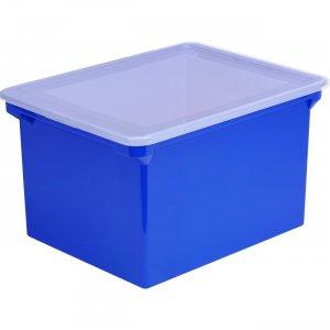 Storex Locking Lid Tote Storage Box 61554U04C STX61554U04C