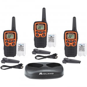 Midland X-TALKER Walkie Talkie Three Pack T51X3VP3 MROT51X3VP3