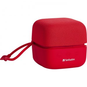 Verbatim Wireless Cube Bluetooth Speaker - Red 70225