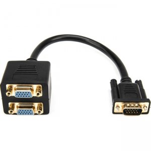 Rocstor Premium 1 ft VGA to 2x VGA Video Splitter Cable - M/F Y10A209-B1