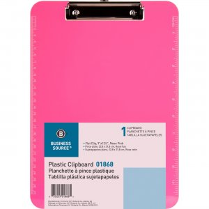 Business Source Transparent Plastic Clipboard 01868 BSN01868