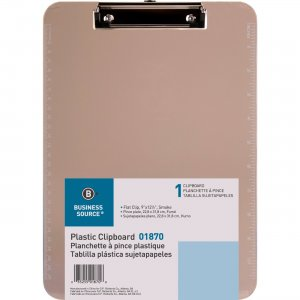 Business Source Transparent Plastic Clipboard 01870 BSN01870