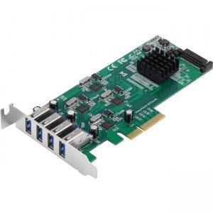 SIIG 4-Port SuperSpeed USB 3.0 PCIe Card - Quad Core JU-P40811-S1