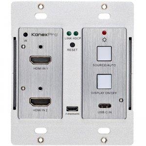 KanexPro Wall Plate Transmitter Switcher WP-2X1HDUSBC