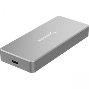 Sabrent 512GB NVMe USB 3.1 External Aluminum SSD SB-512-NVME-BLK