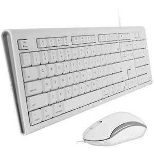 Macally Full Size USB Keyboard and Optical USB Mouse Combo For Mac QKEYCOMBO