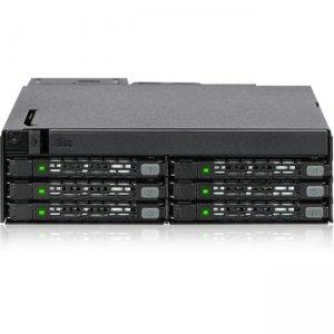 "Icy Dock 6 x 2.5"" SAS/SATA SSD/HDD & Ultra Slim ODD Backplane Cage for External 5.25"" Bay"