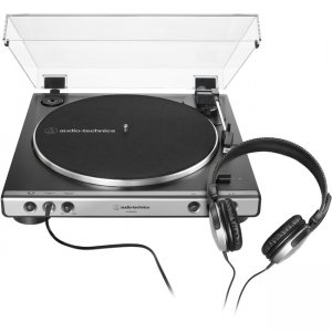 Audio-Technica Fully Automatic Belt-Drive Turntable with Headphones AT-LP60XHP-GM AT-LP60XHP
