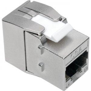 Tripp Lite Keystone Jack Cat6a/Cat6/Cat5e, Shielded, TAA N238-001-SH-TF N238-001-GY-TF