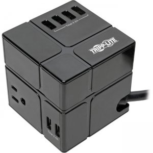 Tripp Lite Protect It! Surge Suppressor/Protector TLP366CUBEUSBB
