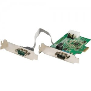 StarTech.com 2-Port RS232 Serial Adapter Card with 16950 UART PEX2S953LP